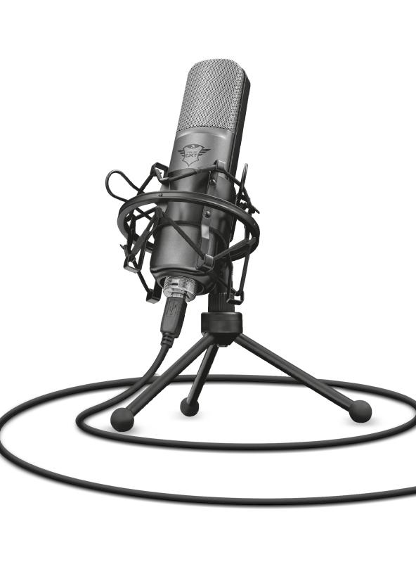 Trust GXT 242 Micrófono de superficie para mesa Negro