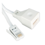 Videk 4129-6W telephone cable 3 m White