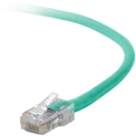 """Belkin Cat5e Patch Cable, 25ft, 1 x RJ-45, 1 x RJ-45, Green networking cable 299.2"""" (7.6 m)"""