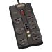 Tripp Lite TLP808TELTV 8AC outlet(s) 120V 2.44m Black surge protector