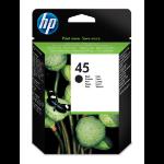HP 45 Origineel Zwart 1 stuk(s) Hoog (XL) rendement