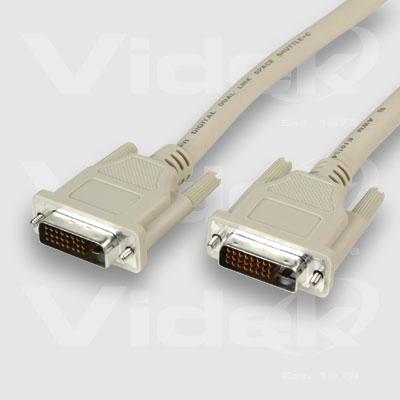 Videk DVI/D M to DVI M Single Link Digital Monitor Cable 3m DVI cable DVI-D