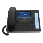 AudioCodes 445HD IP phone Black Wired handset 8 lines LCD Wi-Fi
