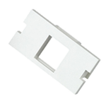 Cablenet 1 Port Keystone Housing (25mm x 50mm) White