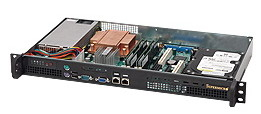 Rackmount Chassis 1u Se-503-200b 200w 1x3.5in Int Drive Bay Front I/o Black