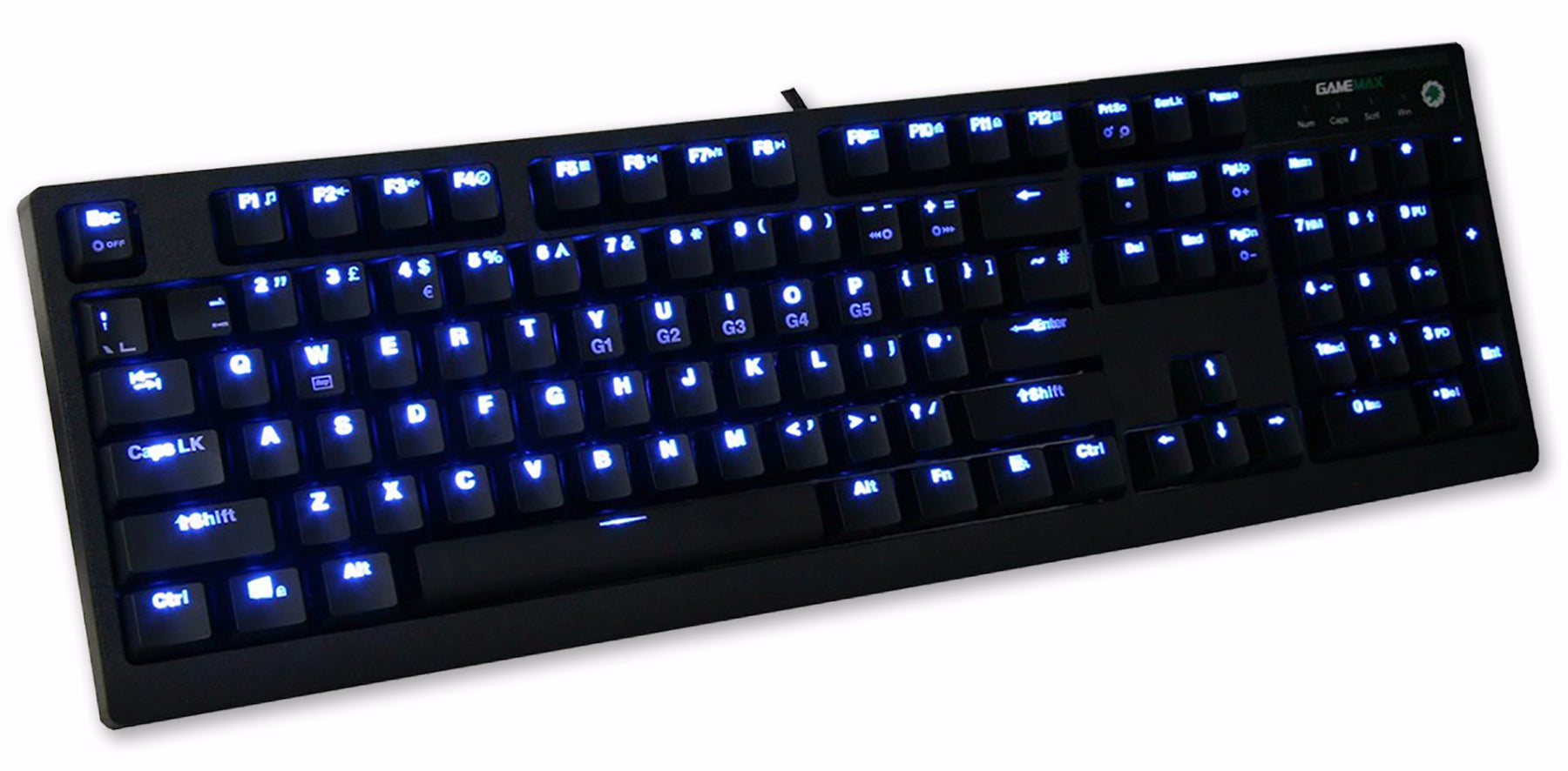 GAMEMAX MK1 Mechanical Gaming Keyboard with Blue LED - KB-MECH/MK1