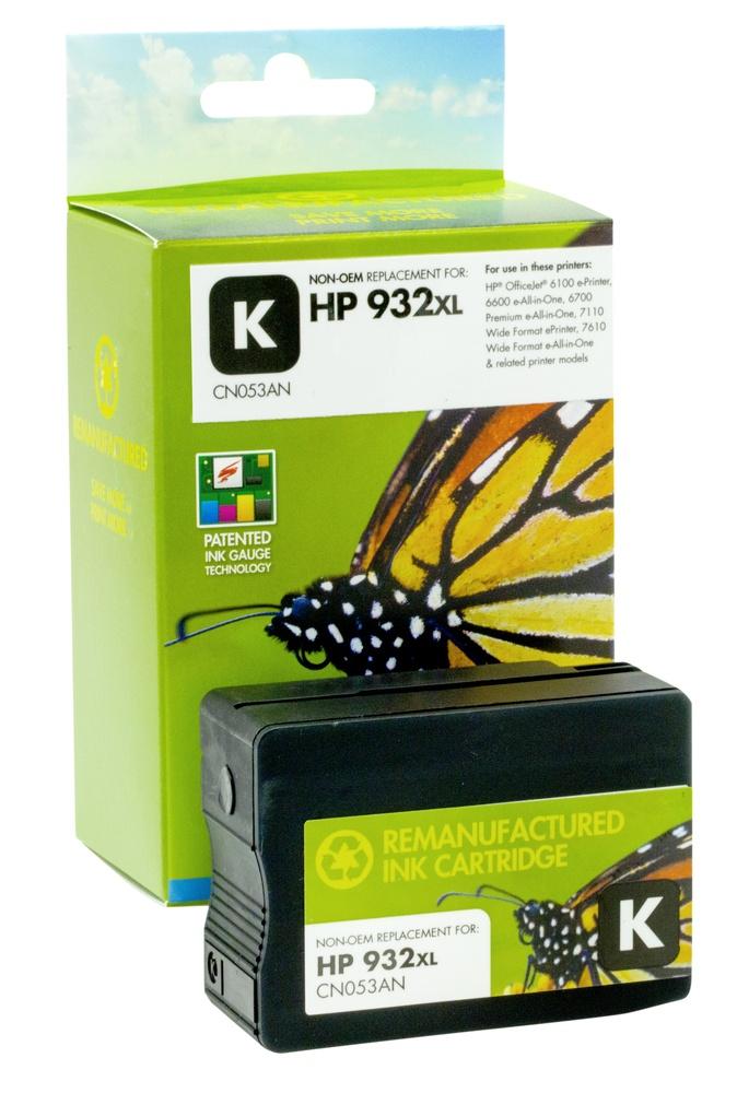 Refilled HP 932XL Black Ink Cartridge