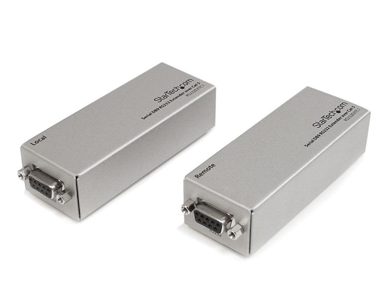 StarTech.com Extensor de 1 Puerto Serie Serial RS232 DB9 por Cable Cat5 UTP Ethernet - Hasta 1000m