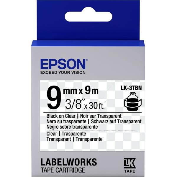 Epson C53S653004 (LK-3TBN) Ribbon, 9mm x 9m