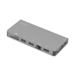 Digitus DA-70877 notebook dock/port replicator Wired USB 3.2 Gen 1 (3.1 Gen 1) Type-C Grey