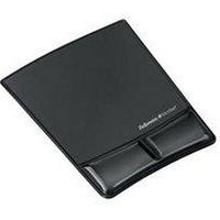 Fellowes Health-V Fabrik Mouse Pad/Wrist Support Black