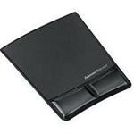 Fellowes Health-V Fabrik Mouse Pad/Wrist Support Black