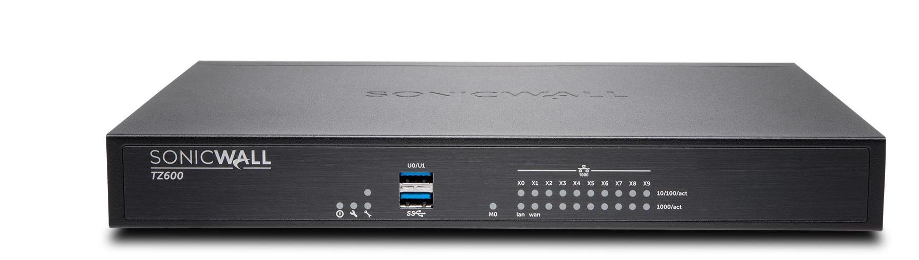 SonicWall TZ600 + Advanced Edition (2 Years) hardware firewall 1500 Mbit/s Desktop