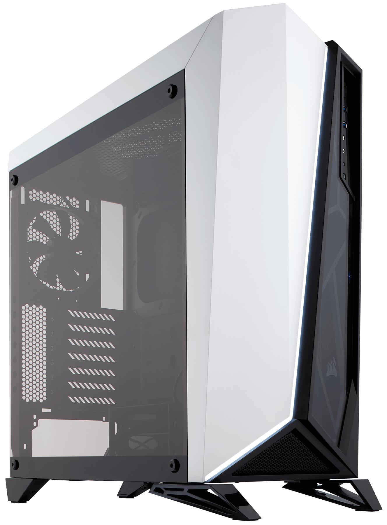 Corsair Carbide SPEC-OMEGA Midi-Tower Black, White computer case