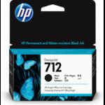 HP 3ED70A (712) Ink cartridge black, 38ml