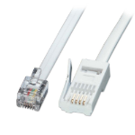 Lindy 2m RJ-11/BT Telephone telephony cable White