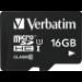 Verbatim Tablet U1 microSDHC Card with USB Reader 16GB memory card