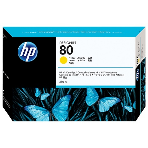 HP C4848A (80) Ink cartridge yellow, 4.4K pages, 350ml