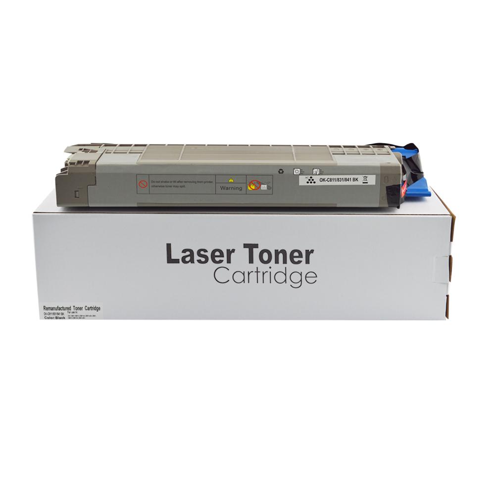Remanufactured OKI 44844508 Black Toner Cartridge