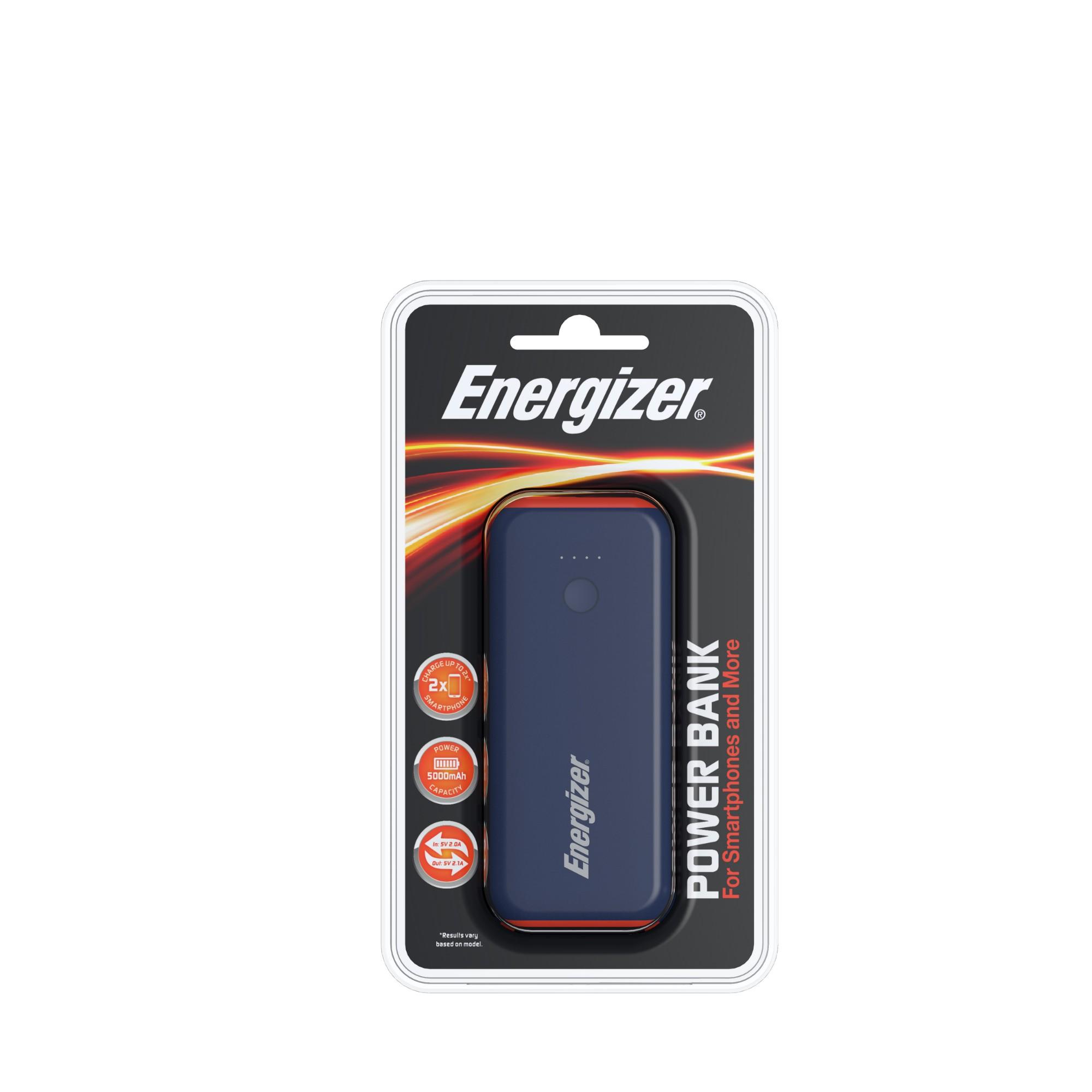 Energizer 5000mAh Power Bank Blue/Orange