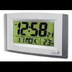 Anglo Continental Acctim Stratus Radio Control LCD wall Clock Silver 74057SL