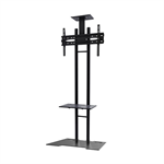 "Newstar PLASMA-M1700ES 55"" Fixed flat panel floor stand Zwart flat panel vloer standaard"