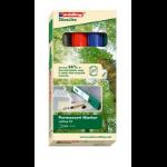 Edding 22 EcoLine permanent marker Chisel tip Black, Blue, Green, Red