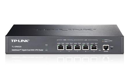 TP-LINK (TL-ER6020) SafeStream GB Dual-WAN VPN Router 5-Port 50 IPsec VPN tunnels