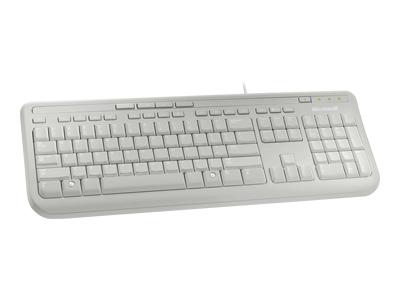 Microsoft Wired 600, White keyboard USB