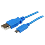 StarTech.com Micro-USB Cable - M/M - 1m, Blue