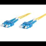 StarTech.com 2m Singlemode Duplex Fiber Cable SC-SC Glasvezel kabel Geel
