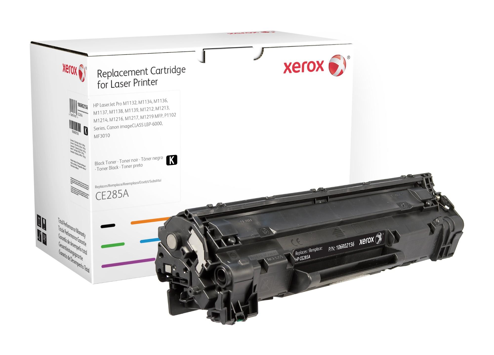 Xerox Cartucho de tóner negro. Equivalente a HP CE285A. Compatible con HP LaserJet P1102/P1102W, LaserJet P1132MFP, LaserJet P1212 MFP/P1217 MFP