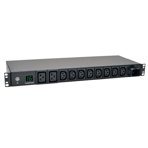 Tripp Lite 3.8kW Single-Phase Metered PDU, 200/220/230/240V Outlets (8 C13, 2 C19) IEC-309 16A Blue, 2.43 m (8-ft.) Cord, 1U