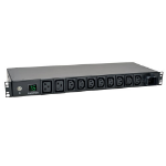 Tripp Lite 3.8kW Single-Phase Metered PDU, 200/220/230/240V Outlets (8 C13, 2 C19) IEC-309 16A Blue, 2.43 m (8-ft.) Cord, 1U