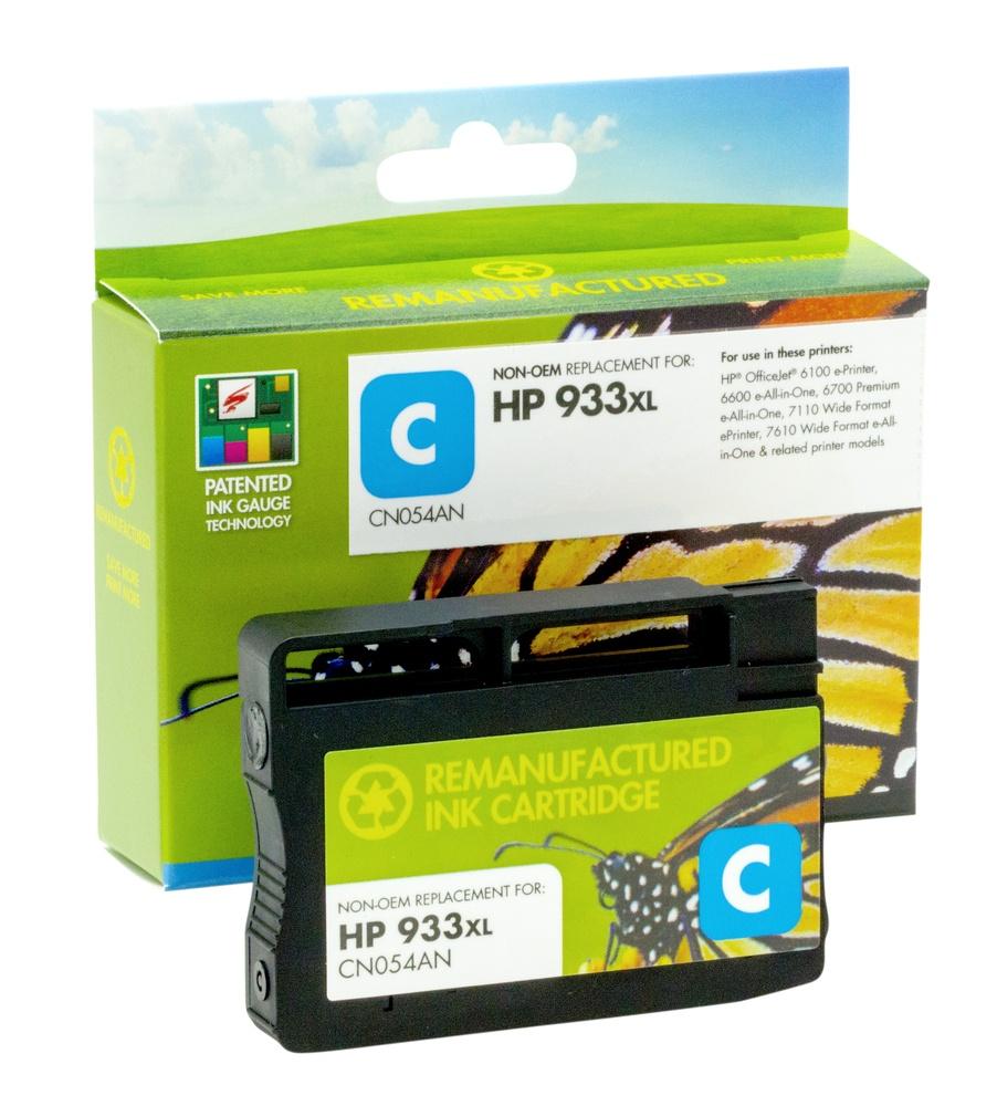 Refilled HP 933XL Cyan Ink Cartridge