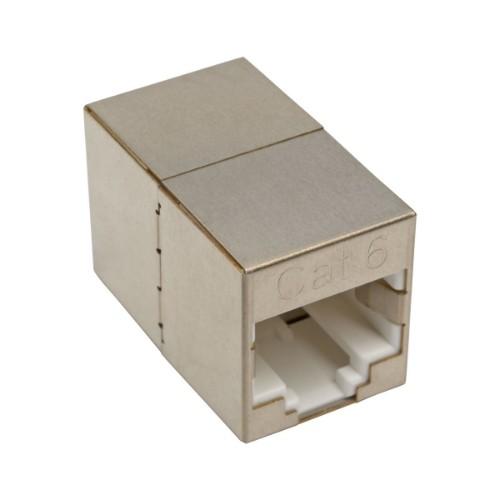 Tripp Lite Cat6 Straight-Through Modular Shielded Compact In-Line Coupler (RJ45 F/F)