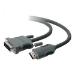 Belkin HDMI - DVI-D M/M 1.8m 1,8 m HDMI tipo A (Estándar) Negro