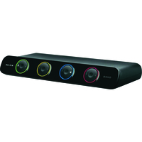 Belkin OmniView SOHO Series 4-Port KVM Switch with Audio and USB Sharing VGA Display - USB Cables Included)
