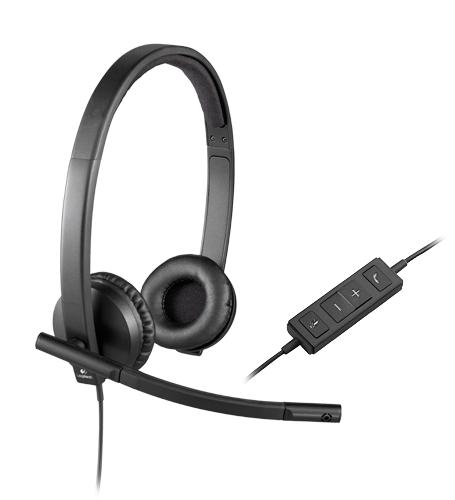 Logitech H570e Binaural Head-band Black headset