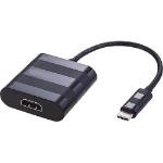 Cablenet 20cm USB 3.1c Male - HDMI 1.4b Female (4Kx2K@30Hz) Tailed Black Active