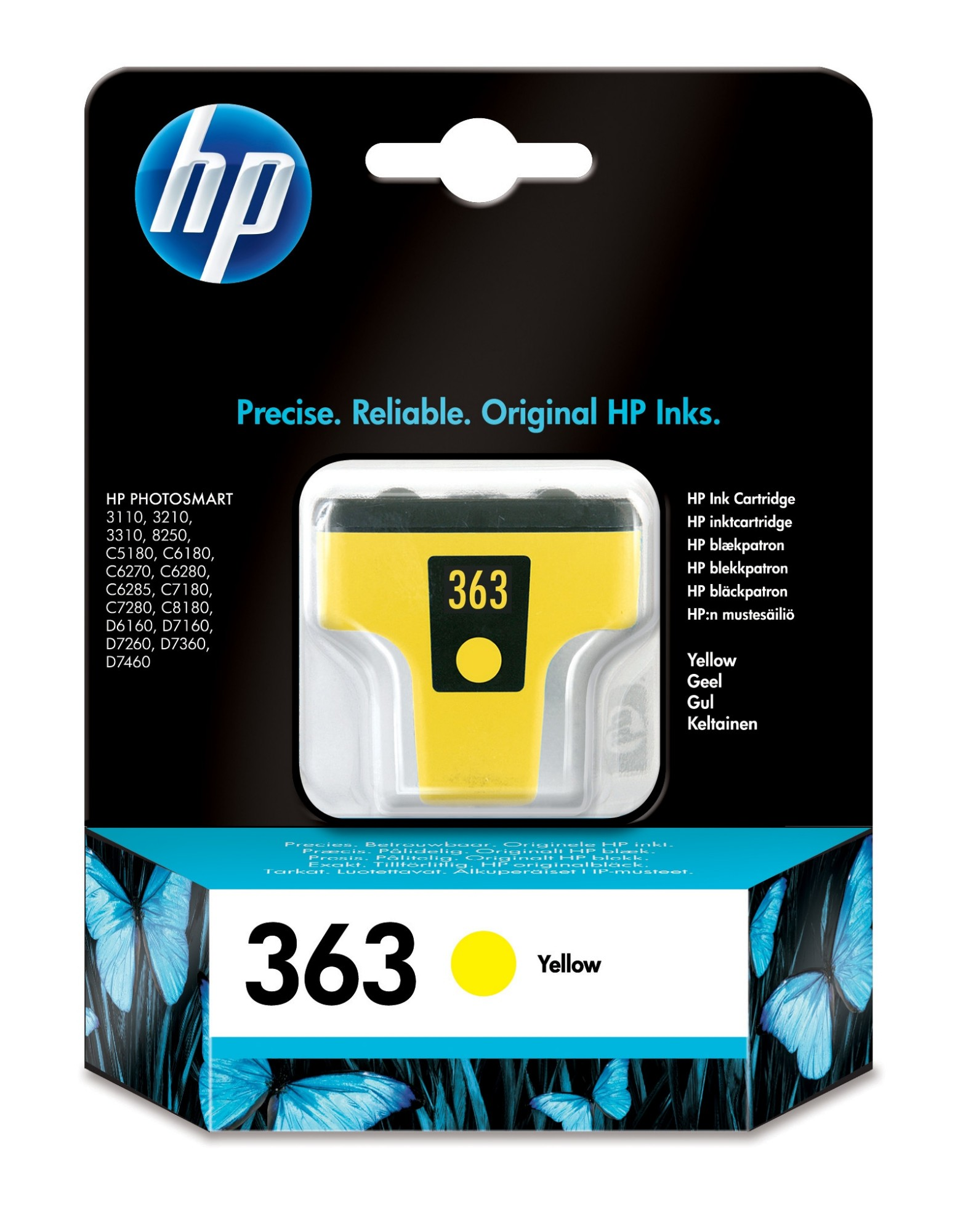 HP 363 Original Amarillo 1 pieza(s)