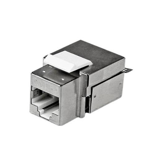 StarTech.com Shielded Cat 6a Keystone Jack - RJ45 Ethernet Cat6a Wall Jack White - 110 Type