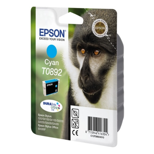 Epson C13T08924011 (T0892) Ink cartridge cyan, 170 pages, 4ml