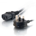 C2G 5m Power Cable Negro BS 1363 C13 acoplador