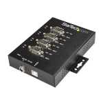 StarTech.com 4-Port Industrial USB to RS-232/422/485 Serial Adapter - 15 kV ESD Protection