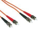 C2G 2m ST/ST LSZH Duplex 62.5/125 Multimode Fibre Patch Cable cable de fibra optica Naranja