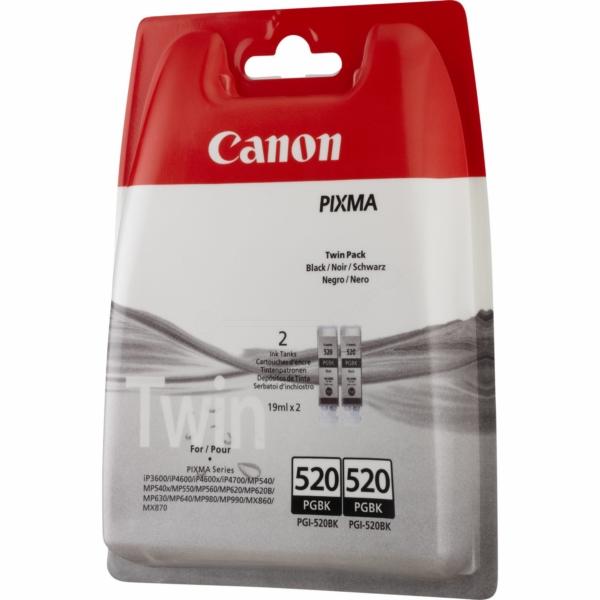 Canon 2932B012 (PGI-520 PGBK) Ink cartridge black, 324 pages, 19ml, Pack qty 2