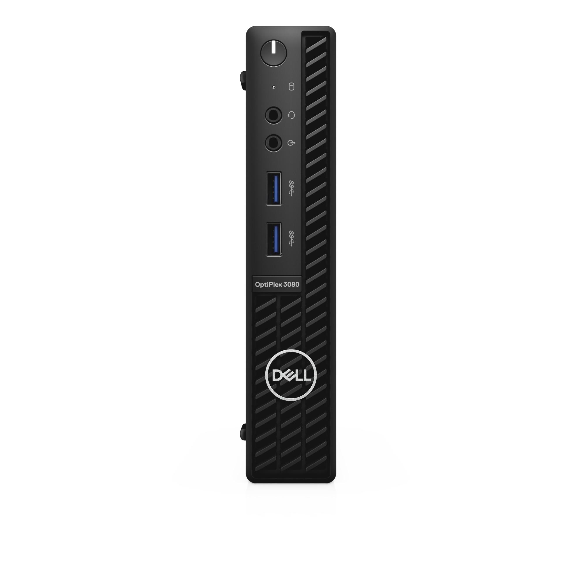DELL OptiPlex 3080 i3-10100T MFF 10th gen Intel® Core™ i3 4 GB DDR4-SDRAM 128 GB SSD Windows 10 Pro Mini PC Black