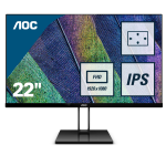 "AOC Value-line 22V2Q computer monitor 54.6 cm (21.5"") 1920 x 1080 pixels Full HD LED Flat Matt Black"