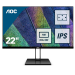 "AOC Value-line 22V2Q pantalla para PC 54,6 cm (21.5"") 1920 x 1080 Pixeles Full HD LED Plana Mate Negro"